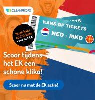 Gratis Kliko sticker en kans op 2 EK-tickets