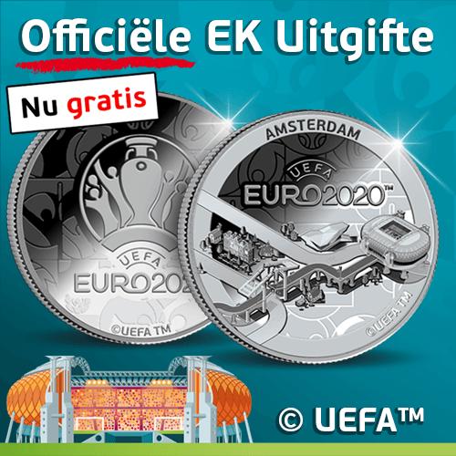 Gratis officiële EK uitgifte munt