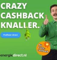 Extra cashback van € 200.- bij energiedirect