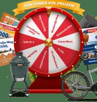 Postcode loterij prijzenrad met Gratis HEMA cadeaukaart