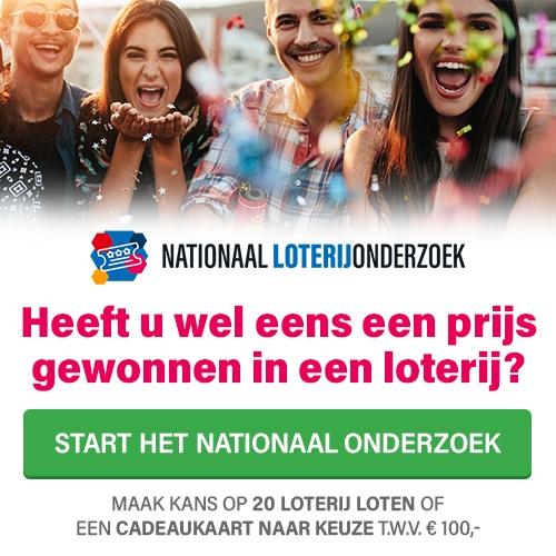 Doe het Loterijonderzoek en win een prijs