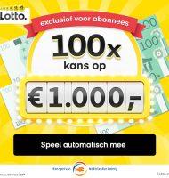 Lottotrekking | 100 dagenelke dag € 1.000,- cadeau