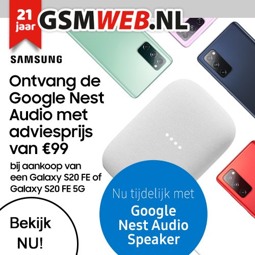 GSMWEB geeft Gratis Google Nest speaker weg