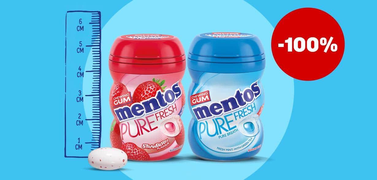 Cashback Actie van Mentos Gum Mini Potjes