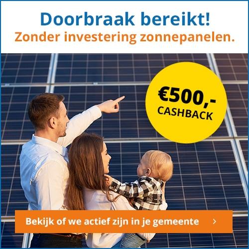 Zonne energie zonder eigen investering? Het kan!