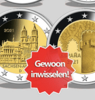 Ruil Gratis 5x 2-Euro om in 5 Herdenkingsmunten