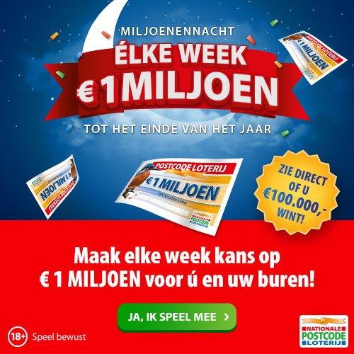 Elke week een miljoen winnen!!